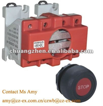 Explosion-proof 4-pole switch pushbutton