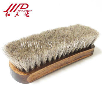 Beech Wooden shoe brush whit horse hair
