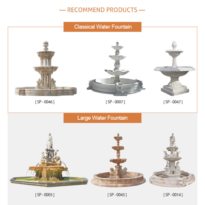 Decorative beautiful marble stone garden water fountain for sale