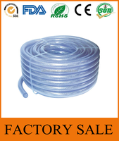 Cixi Jinguan Manufactures Standard 10mm Multi Colors Non Smell Light Fiber Braided PVC Garden Water Irrigation Hose Pipe