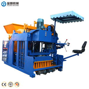 large size mobile machine to make concrete blocks