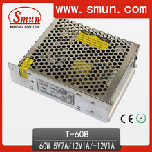 60W 5V 12V -12V Switch Mode Power Supply For LED T-60B