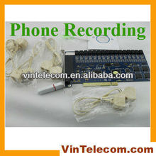 16ch PCI Telephone recording system for PBX