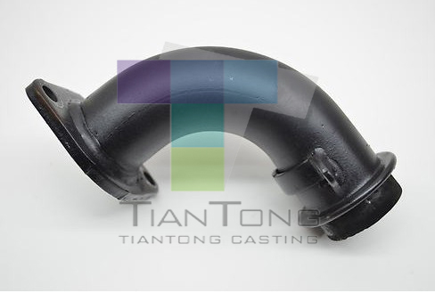 Strict Quality Control Ductile Iron SG Iron Grey Iron Cast Manifold Black Exhaust Pipe