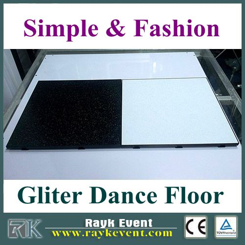 Best quality portable dance floor black and white, cheap portable pvc wooden dance floor
