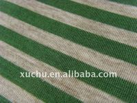 Jersey Kintted Fabic Yarn Dyed Stripe 100 Cotton Fabric