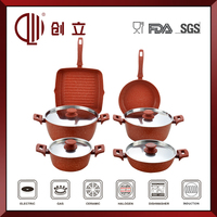 aluminum induction based cookware set CL-C161