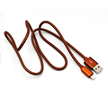 1m/2m/3m leather braid usb charger and sync mfi 8 pin cable