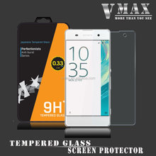 HOT SALE!! Top brand VMAX Japan Asahi 9H 2.5D 0.33mm mobile phone Tempered Glass screen protector guard for Sony Xperia XA