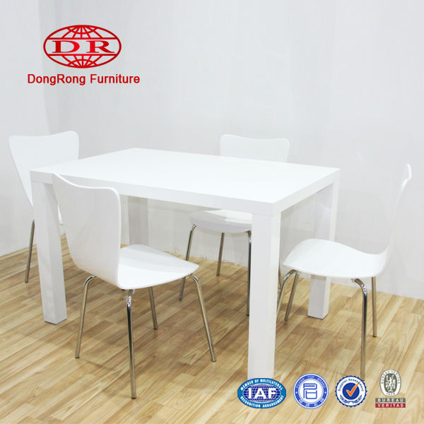 Home furniture-1+4 Modern High Glossy Dining Table and chairs