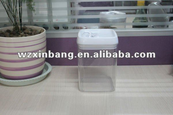 Airtight storage container acrylic seal pot