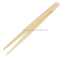 Pointy Tip Bamboo Straight Tweezer Tea Tong Handy Tool
