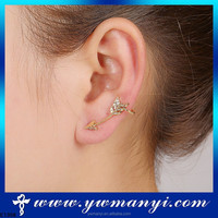 Best selling products best price ear studs ear cuff with stud solid SE00068