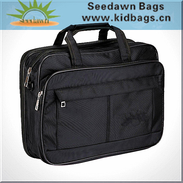 1680D Messenger Laptop Bag with Backside Webbing Band for Standing on Trolley Luggage Case