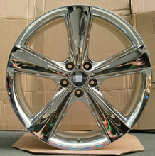 5x120 inch chrome 5 spokes car alloy wheel rims for auto wheels