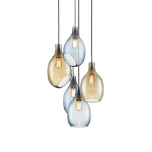 New Design Round Hand Blown Glass Pendant Light art glass chandelier lighting for Home Decor
