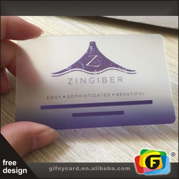 Full Color Printing Promotional Clear PVC Gift Cards