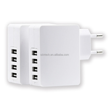 2017 5V Mini 4 USB Port USB Wall Charger Mobile Accessories Phone Home Charger 4USB Travel Charger Alibaba Express EU US Plug