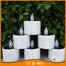 Zhejiang Manufacturer LED Flickering Candles Light With Solar System Battery Operated