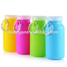 New Silicone Water Bottle Durable Sports Water Silicone Collapsible Bottles for Travel 2015 hot sale