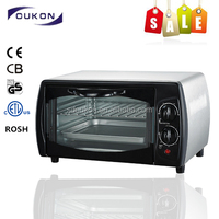 9L black domestic electric mini toaster oven
