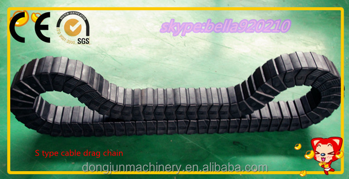 JFLO energy plastic S type cable drag chain by Cangzhou Dongjun Machinery Accessories Co.,Ltd company