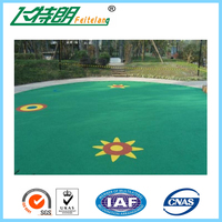 Colorful Synthetic EPDM Rubber Granules Flooring Material Waterproof Rubber Surfacing Mat Material