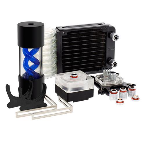Alseye DIY 120 cpu water cooling led light fan led pump