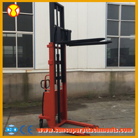 China Made Manual type 2.0Ton Mechanical Mini Electric Forklift
