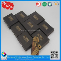 Perfect Eco-friendly Beautiful And Luxury Custom Black Small Paper Box