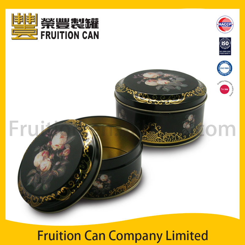 Tin can manufacturer Round cookie tin with slip cover pringles can food can