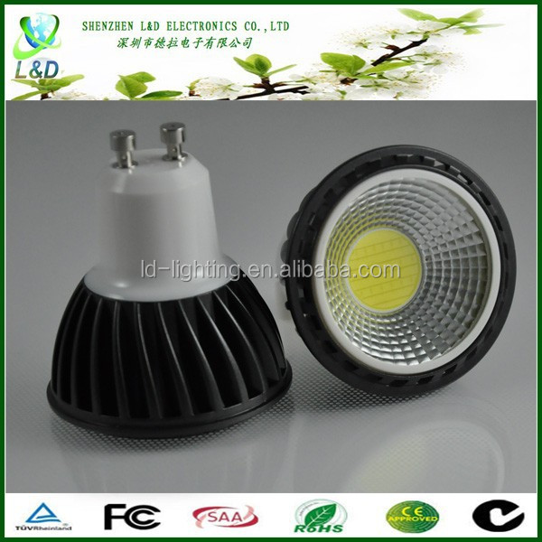 High quality 6W COB LED Lights GU10 with free shipping