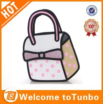 600D tote 3d cartoon bag designer bulk wholesale handbag china