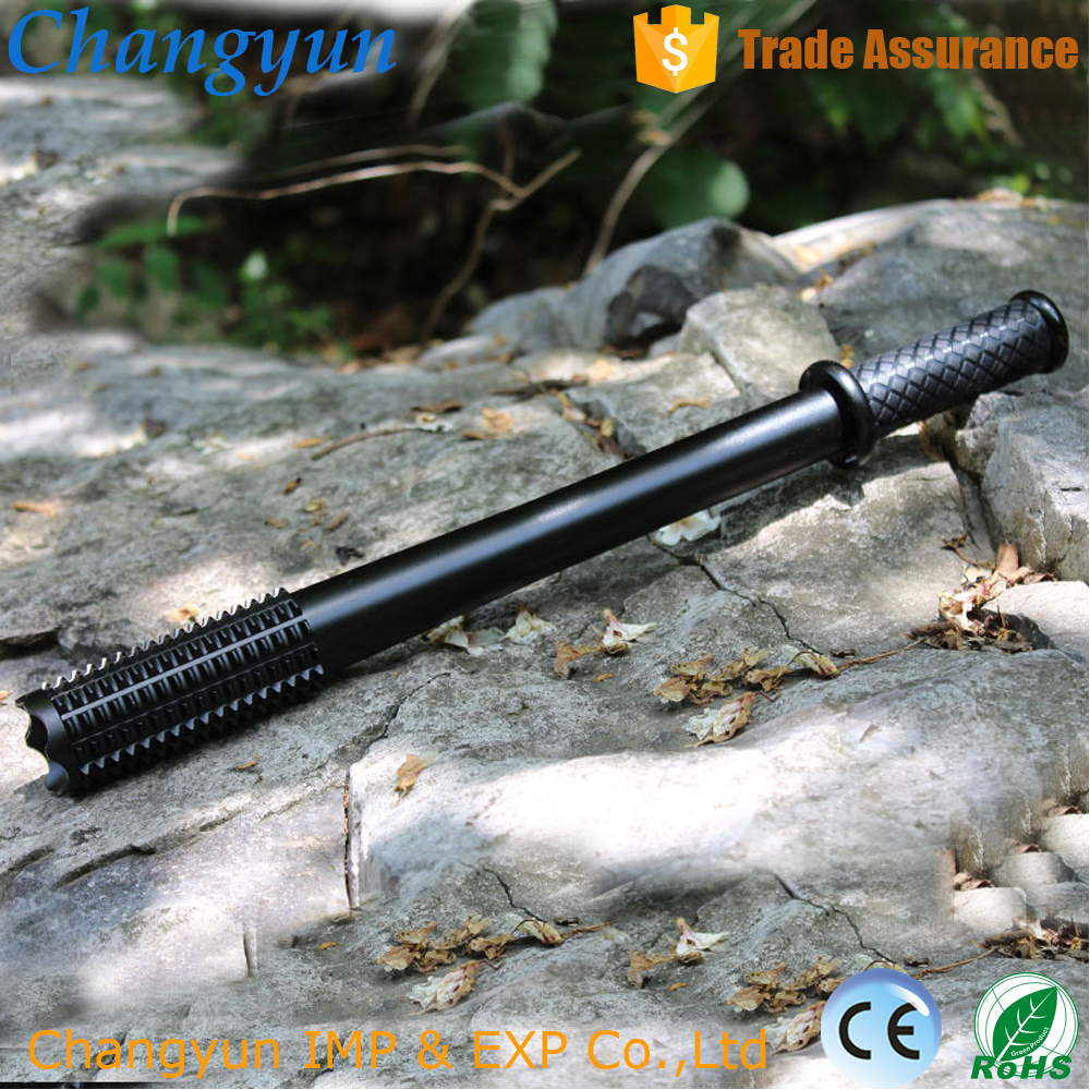 High power electric charge led mace flashlight zoomable led flashlight