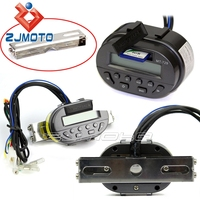 ZJMOTO MT729 Black LCD Sound System Motorcycle Audio MP3 Music Radio Speaker Fit To All Motorbikes