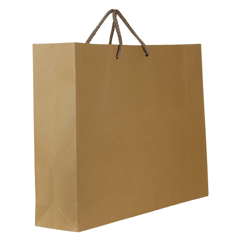 clothing factory used twisted handle paper kraft bag
