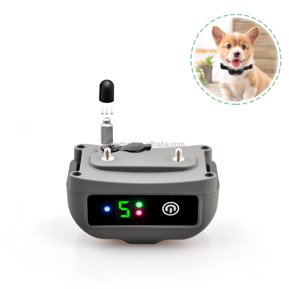 2017 Amazon hot selling Rechargeable No Bark Collar Stop Bark collar with Vibration Beep and No Harm Shock