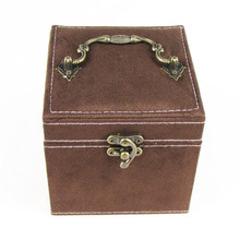 Beautiful Useful Handmade Brown Portable Jewelry Storage Box