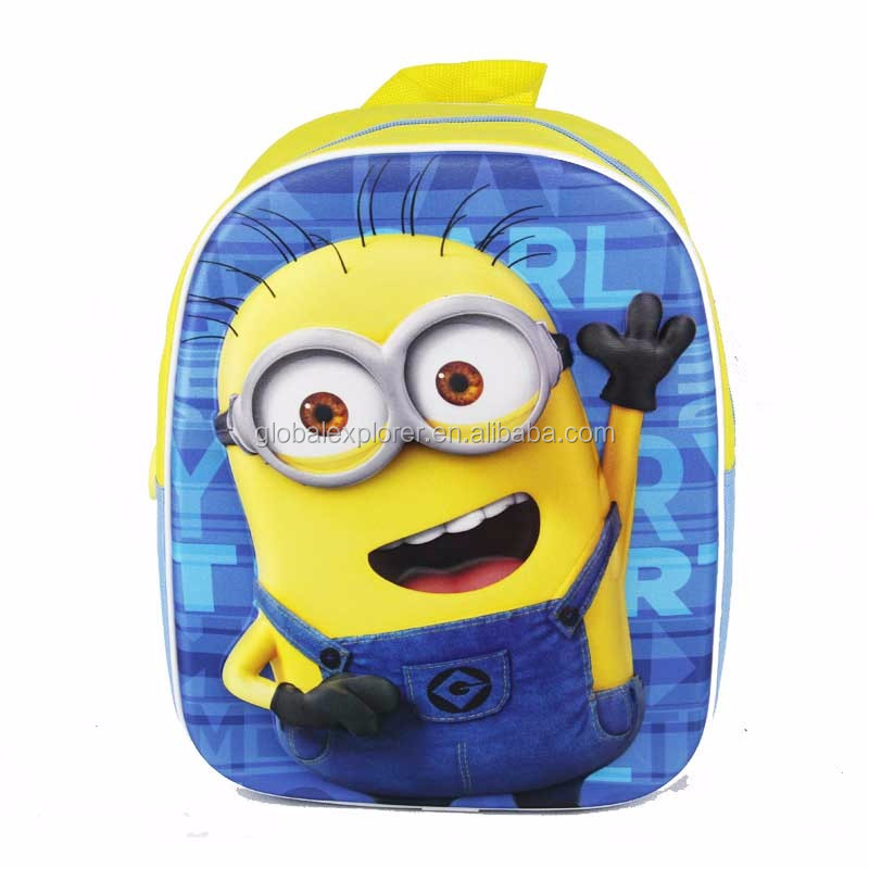 Effect assurance opt rucksack Yellow people 3D school bag with low price