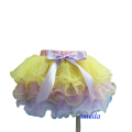 Easter Yellow Pink Lavender with colorful Trim Petal Pettiskirt Tutu 1-7Y