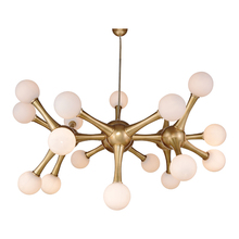 18 light modern creative molecule shape brass glass ball pendant lights