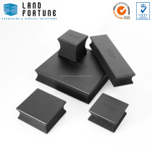 china wholesale manufacturer black square special shape wooden jewellery gift packaging box