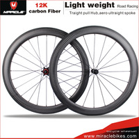 MIRACLE 2016 road bike clincher 56mm carbon wheels 700c chinese carbon fiber bike wheels bicycle parts accept custom paint