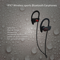 Amazon top sale waterproof 4.1 stereo headset bluetooth, rubber ear-hook for comfort