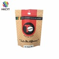 Food Packaging Recycle 250g Stand Up Coffee Package Paper Bag With Zipper