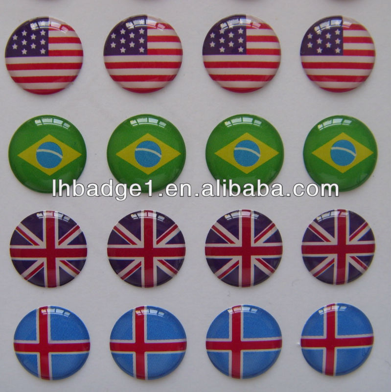 3D Epoxy Resin Domed Labes/Decals/Sticker