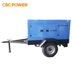 with cummins engine trailer mounted generator for outdoor use