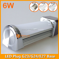 2pin 4pin G23 G24 Base LED PL lamp G24 LED bulb g24 plc led,g24 led pl light bulb,g24 6w