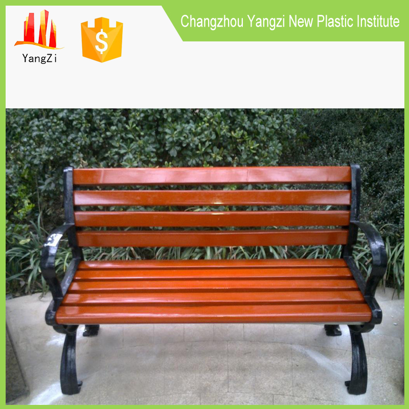 Customized bright colored outdoor garden long bench furniture
