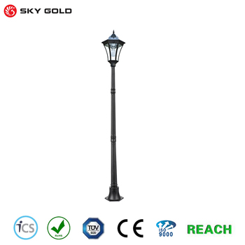 Outdoor Garden Lamp Post Light 19 Bright White Smd Led Street Style Decorative